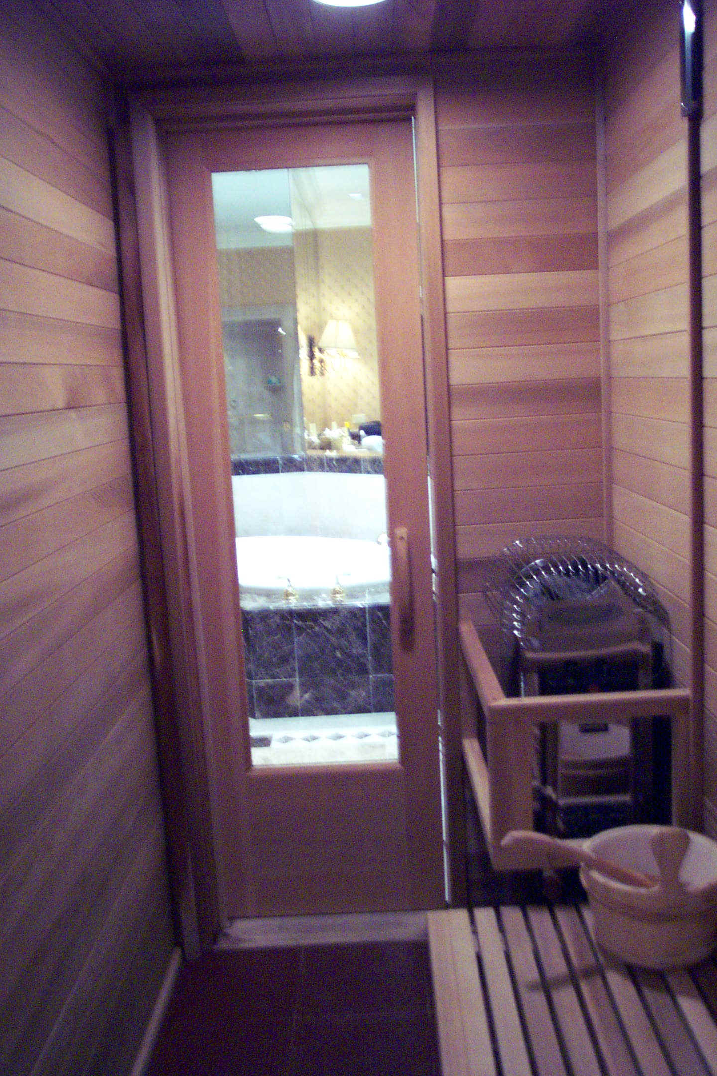 Master bedroom for Master bathroom with sauna